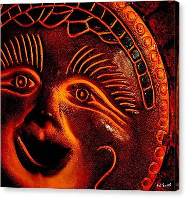 Burned Clay Canvas Print - Sun Burn by Ed Smith
