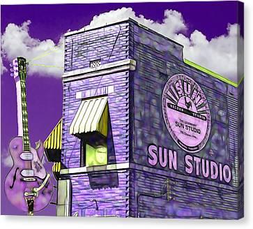 Elvis Presley Canvas Print - Sun Studio Collection by Marvin Blaine