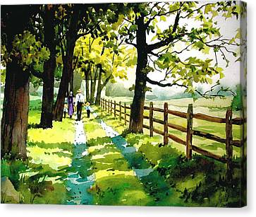 Sunday Afternoon Canvas Print by Faye Ziegler