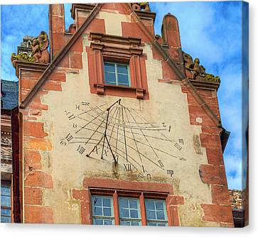 Sundial Canvas Print by Darin Williams