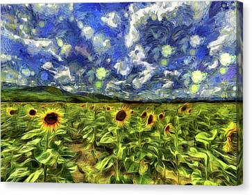 Sunflower Field Van Gogh Canvas Print