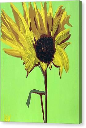 Canvas Print - Sunflower by Karen Nicholson