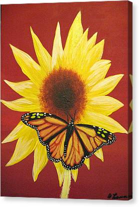 Sunflower Monarch Canvas Print