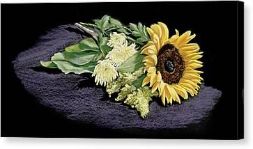 Sunflower Canvas Print by Vanda Luddy
