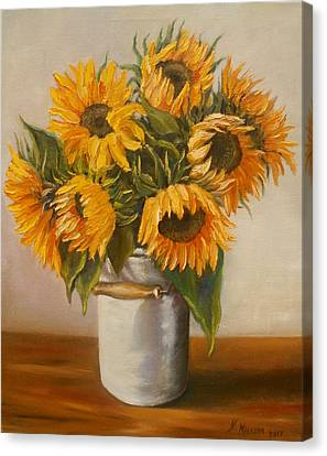 Sunflowers Canvas Print by Nina Mitkova