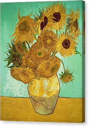 Still Lives Canvas Print - Sunflowers by Vincent Van Gogh