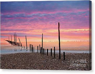 Sunrise At Woodstown Beach Canvas Print