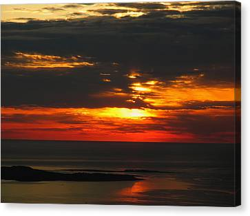 Maine Mountains Canvas Print - Sunrise Cadillac Mountain by Juergen Roth