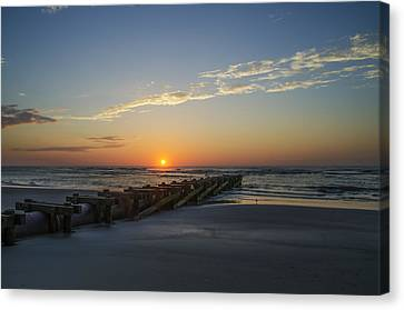 Sunrise In Avalon New Jersey Canvas Print by Bill Cannon