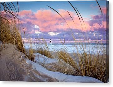 Sunrise In Michigan City Canvas Print