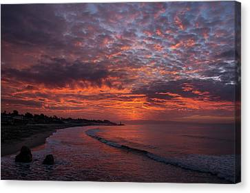 Sunrise- Monterey Bay Canvas Print