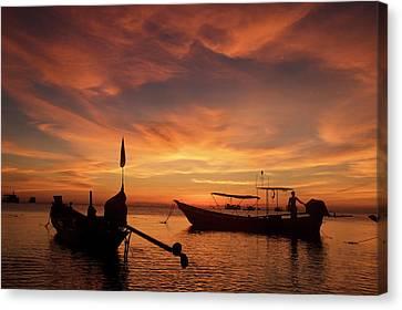 Sunrise On Koh Tao Island In Thailand Canvas Print