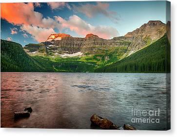 Sunrise Over Cameron Lake - Waterton Lakes National Park Canvas Print by Yefim Bam