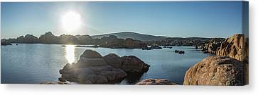 Sunrise Panorama - Watson Lake Canvas Print