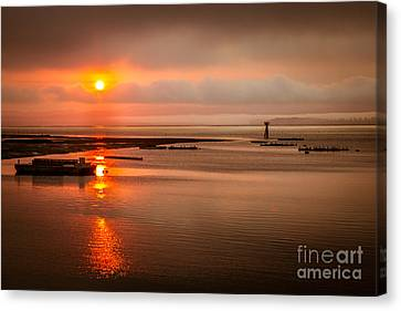 Sunrise Reflections Canvas Print by Robert Bales