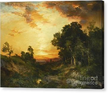 Sunset Amagansett Canvas Print