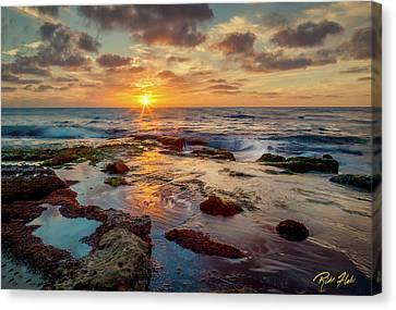Canvas Print featuring the photograph Sunset At La Jolla  by Rikk Flohr