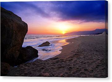 Sunset At Pt. Dume Canvas Print by Ron Regalado