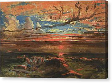 Francis Canvas Print - Sunset At Sea After A Storm by Francis Danby