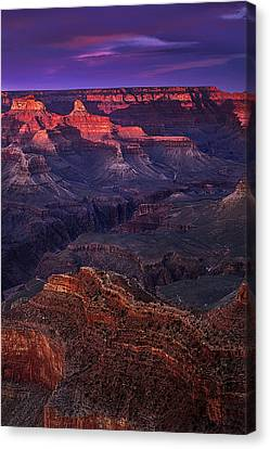 Sunset At The Grand Canyon Canvas Print by Andrew Soundarajan