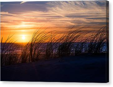 sunset at the North Sea Canvas Print by Hannes Cmarits