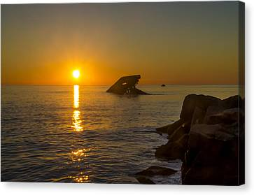 Sunset Beach Canvas Print by Bill Cannon