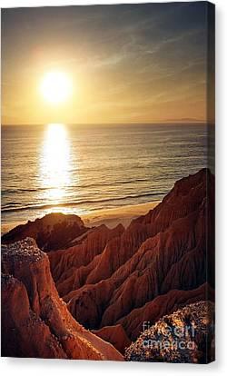 Sunset Beach Canvas Print by Carlos Caetano