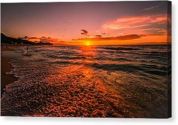 Sunset Beach Canvas Print by RC Pics