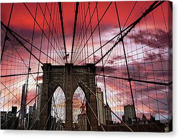 Sunset Gothic Canvas Print by Jessica Jenney