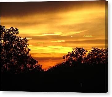 Sunset Canvas Print by Heidi Poulin