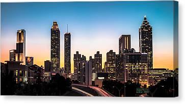 Sunset In Atlanta  Canvas Print