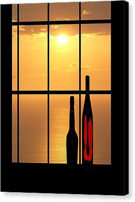 Canvas Print featuring the photograph Sunset In Hawaii by Athala Carole Bruckner