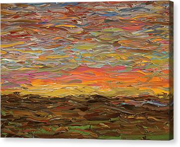 Sunset Canvas Print by James W Johnson