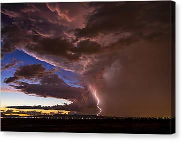 Sunset Lightning In Phoenix Canvas Print
