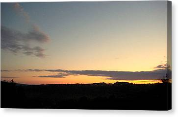 Sunset Over Oxford Canvas Print by Marcia Crispino