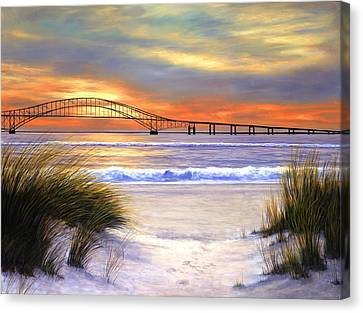 Sunset Over Robert Moses Canvas Print