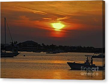 Canvas Print featuring the photograph 1- Sunset Over The Intracoastal by Joseph Keane