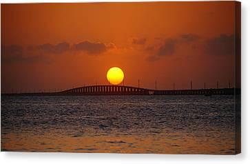 Sunset Seven Mile Bridge Canvas Print