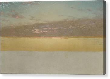 Sunset Sky Canvas Print by John Frederick Kensett