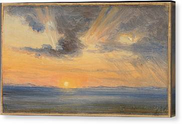 Fearnley Canvas Print - Sunset Sorrento by MotionAge Designs