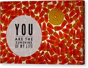 Canvas Print featuring the photograph Sunshine by Bobby Villapando