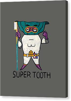 Super Tooth Canvas Print by Anthony Falbo
