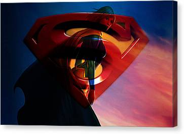 Supergirl Art Canvas Print
