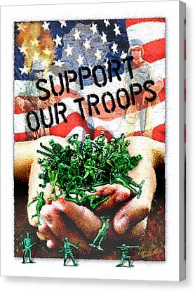 Support Our Troops Canvas Print by Ernestine Grindal