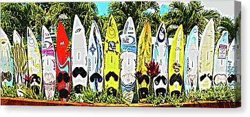 Surfboards In Paia Maui Hawaii Canvas Print