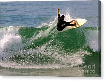 Surfer Canvas Print by Carlos Caetano