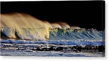 Surfing The Island #2 Canvas Print by Blair Stuart