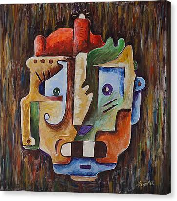 Surrealism Head Canvas Print