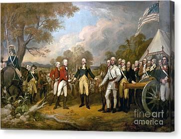 Surrender Of General Burgoyne  Canvas Print by John Trumbull