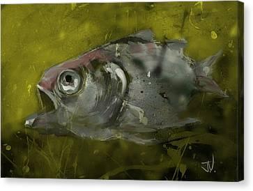 Canvas Print featuring the digital art Survivor by Jim Vance